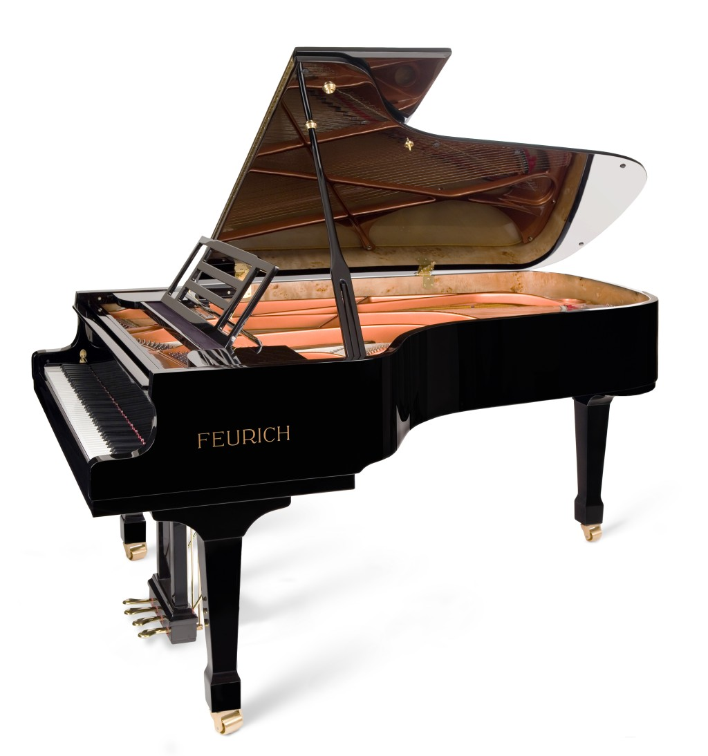 Feurich model 218 concert grand piano thornhill pianos for Small grand piano size